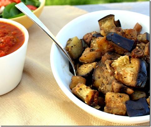 Sautéed Italian Eggplant and Mushroom