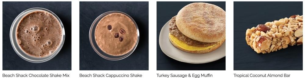 sample breakfast menu